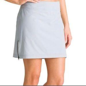 Athleta Light Gray Mini Skirt